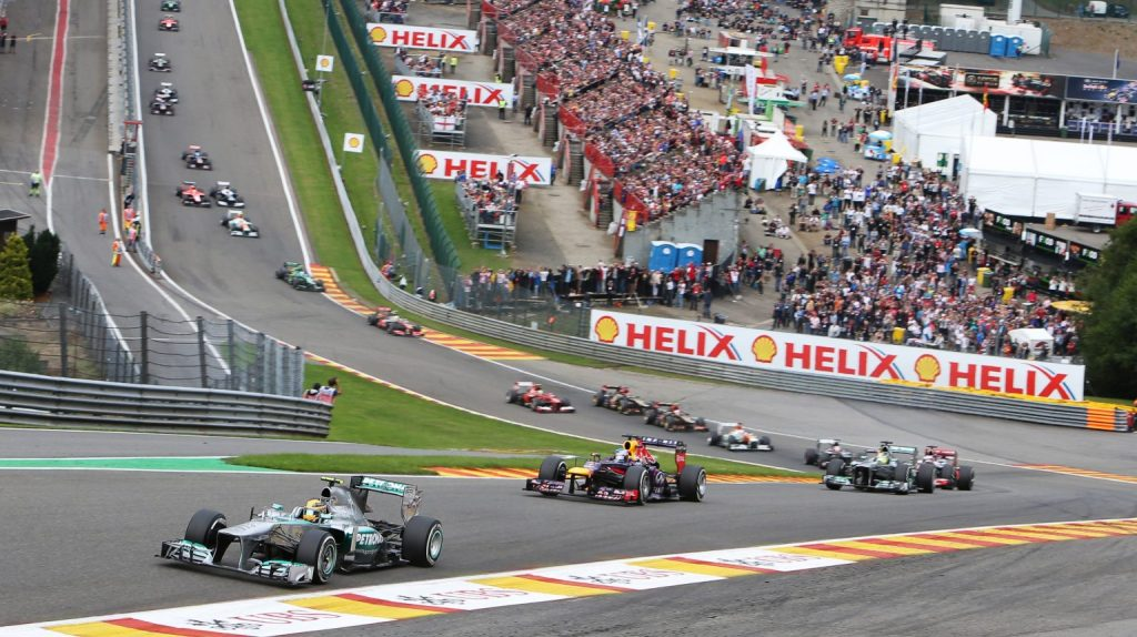 Eau Rouge, Best race circuits in the world