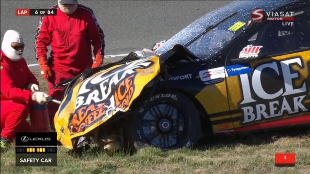 chris pither crash, v8 supercar blog, motorsport blog, alex dodds motorsport